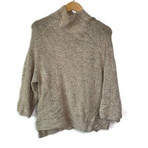 Zara Knit NWOT Italian Yarn Tan Pull Over Sweater